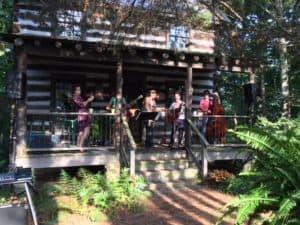 Lynch Creek Farm - Cabin Front Porch - Blue Grass Music